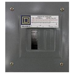 Centro de carga monofasico qod 3 circuitos montaje para empotrar 3f 4h con neutro solido y tierra