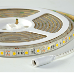 Tira flexible de led blanco calido 5050 smd a 12v ip68 3000k