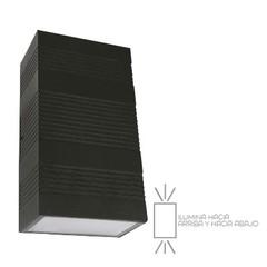 Lampara para sobreponer en muro exterior led 6w 300lm 4000k negro tecnolite 241 hled 841