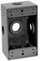 Caja rectangular 5 entradas de aluminio para uso intemperie de 3 4 eaton